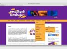Site Mergulhando na Estrada - página interna menu