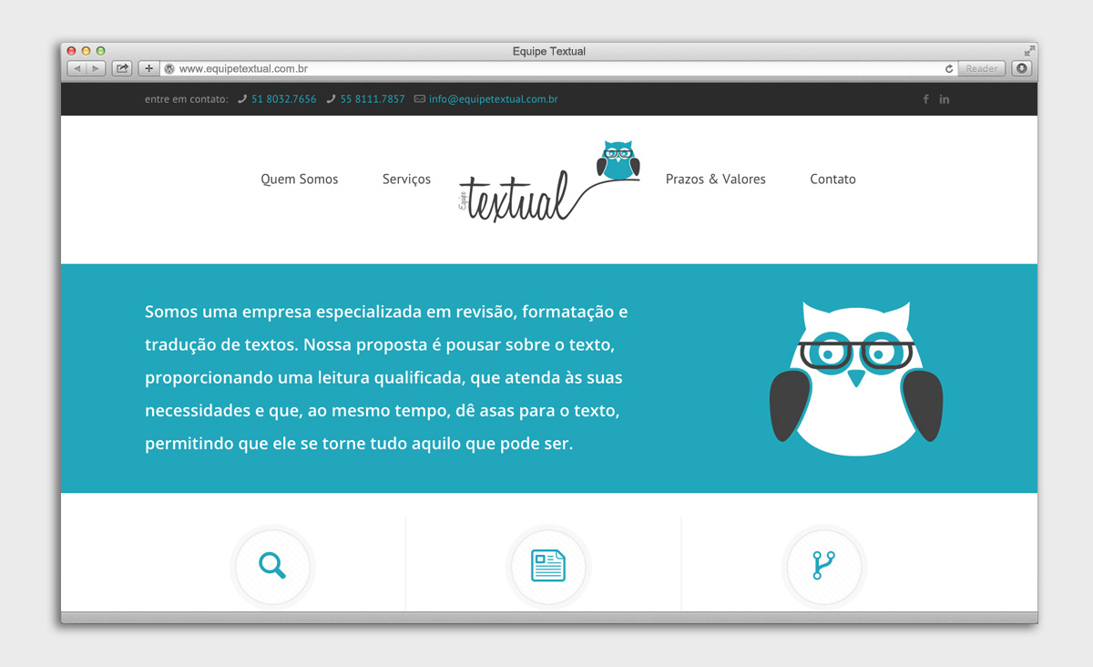 site Equipe Textual - Home