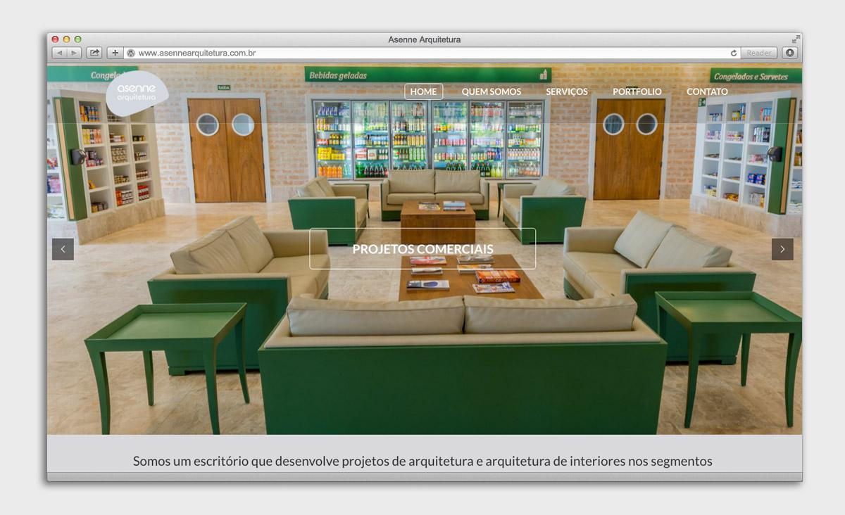 Site Asenne Arquitetura - Home