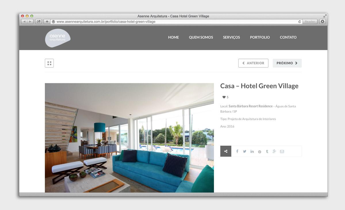 Site Asenne Arquitetura - Projeto